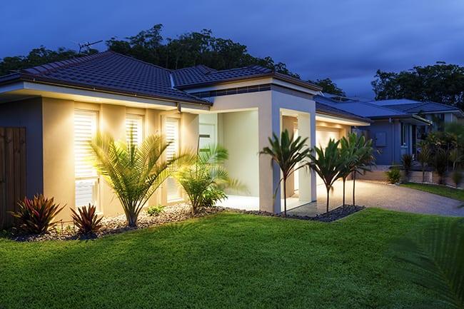 Jari Blue Native Zoysia Turf House Lawn Night Glenview Turf