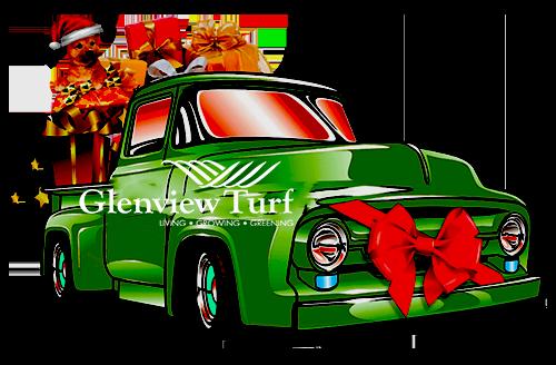 Glenview Turf Christmas truck